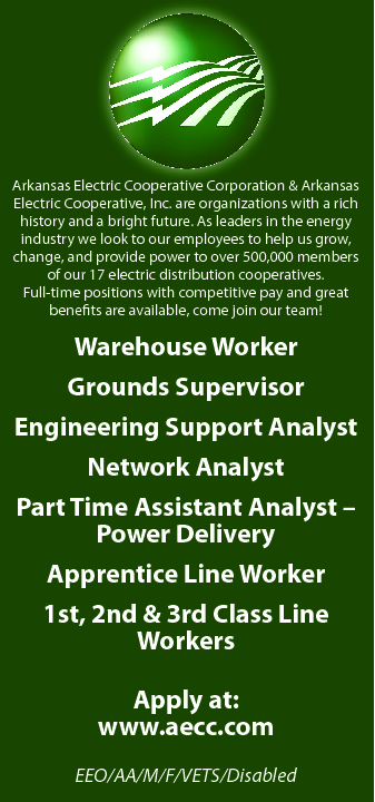Warehouse Worker at Ark Electric Cooperatives • Disabled Person